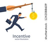 incentive concept. business... | Shutterstock .eps vector #1242088609