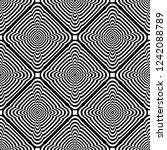 seamless op art checked pattern.... | Shutterstock .eps vector #1242088789