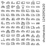 set of public transport related ... | Shutterstock .eps vector #1242092620