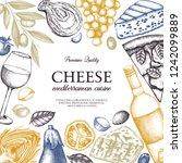 mediterranean cuisine design.... | Shutterstock .eps vector #1242099889