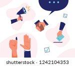 icon illustration set hand vote ... | Shutterstock .eps vector #1242104353