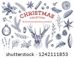 big collection of 30 christmas... | Shutterstock .eps vector #1242111853