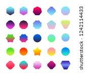 set of gradient color badge...