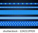 led strip bright blue light ... | Shutterstock .eps vector #1242119920