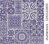 vector abstract seamless...   Shutterstock .eps vector #1242122833