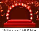 abstract round podium... | Shutterstock .eps vector #1242124456