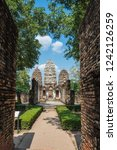 wat si sawai in sukhothai... | Shutterstock . vector #1242126259