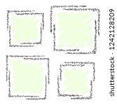 set of graphic corner element ... | Shutterstock .eps vector #1242128209