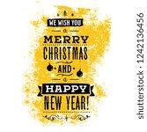 merry christmas. typography.... | Shutterstock .eps vector #1242136456
