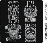 vintage labels set with... | Shutterstock .eps vector #1242144730