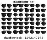 black sunglasses set vector   Shutterstock .eps vector #1242147193