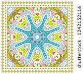 decorative colorful ornament on ... | Shutterstock .eps vector #1242152116
