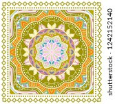 decorative colorful ornament on ... | Shutterstock .eps vector #1242152140