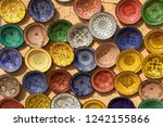 colorful dish souvenirs for... | Shutterstock . vector #1242155866