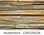 closeup reed mat. reed frame...   Shutterstock . vector #1242156226