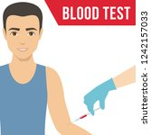 blood collection from a man... | Shutterstock . vector #1242157033