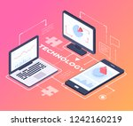 digital technology   modern... | Shutterstock .eps vector #1242160219