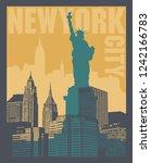 manhattan  new york city ... | Shutterstock .eps vector #1242166783