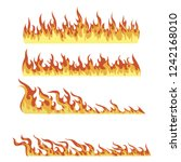 set of fires. collection of... | Shutterstock .eps vector #1242168010