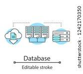 database concept icon. server.... | Shutterstock .eps vector #1242170350