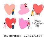 happy valentine's day. various... | Shutterstock .eps vector #1242171679