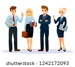 office workers group. business... | Shutterstock .eps vector #1242172093