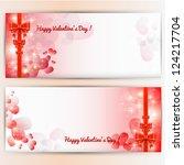 valentine's day background.   Shutterstock .eps vector #124217704