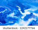 blue and white color paint... | Shutterstock . vector #1242177766
