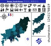 vector map of busan  south... | Shutterstock .eps vector #1242178819