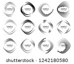 lines in circle form . spiral... | Shutterstock .eps vector #1242180580