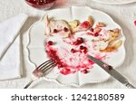 dirty dishes in the christmas... | Shutterstock . vector #1242180589