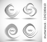 lines in circle form . spiral... | Shutterstock .eps vector #1242180610