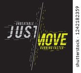 just move running sport... | Shutterstock .eps vector #1242182359