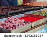 pile of tentacles for cooking... | Shutterstock . vector #1242185269