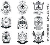 heraldic coat of arms  vintage... | Shutterstock .eps vector #1242187963