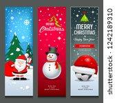 merry christmas  santa claus ... | Shutterstock .eps vector #1242189310