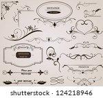 calligraphic design elements... | Shutterstock .eps vector #124218946
