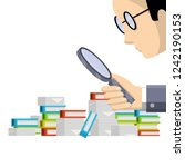 auditor with a magnifying glass ... | Shutterstock .eps vector #1242190153