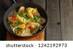 homemade fried potatoes and... | Shutterstock . vector #1242192973