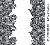 seamless lace border. vector... | Shutterstock .eps vector #1242196033