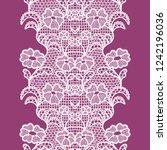 white lacy vintage elegant trim.... | Shutterstock .eps vector #1242196036