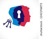 gender psychology concept... | Shutterstock .eps vector #1242196873