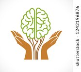 mental health and psychology... | Shutterstock .eps vector #1242196876