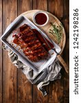 home made pork ribs  glazed... | Shutterstock . vector #1242198286