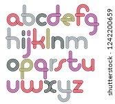 vector lowercase funky disco... | Shutterstock .eps vector #1242200659