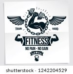 power lifting competition... | Shutterstock .eps vector #1242204529