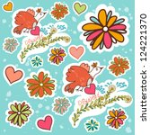 vector seamless pattern with... | Shutterstock .eps vector #124221370