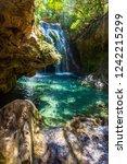 waterfall of akchour ... | Shutterstock . vector #1242215299
