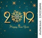 celebration 2019 colorful happy ... | Shutterstock .eps vector #1242216646