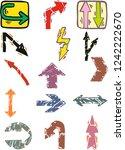 vecor color arrows icons | Shutterstock .eps vector #1242222670